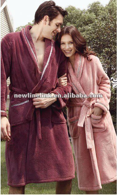 Male/Female Bath Robes And Slippers