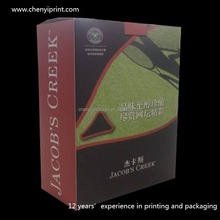Popular portable shape wine gift box with transparent window