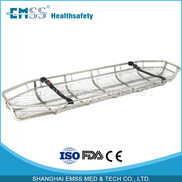 Medical devices factory Stainless steel helicopter rescue basket stretcher