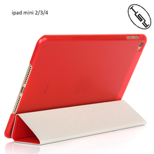 HUYSHE Shockproof Smart Foldable Leather PU +PC Cover Case for Ipad Mini 4 Flip Tablet Case