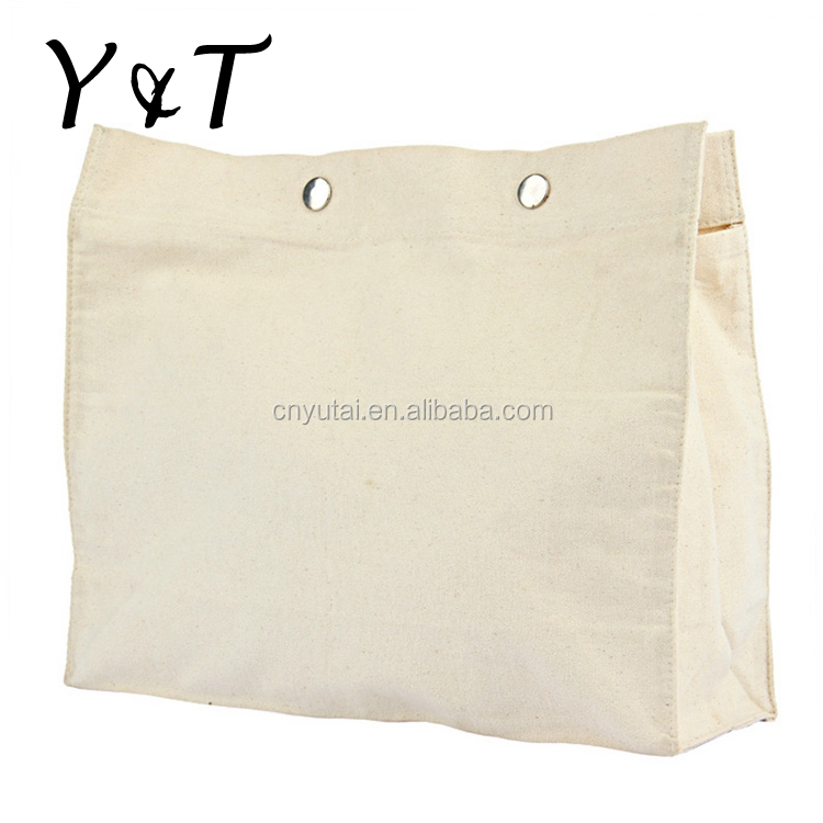 Factory direct sell reusable hand cotton canvas bag with good quality