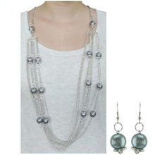 Fashoin cheap long chain necklace set