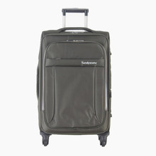 custom fabric trolley bag EVA luggage case