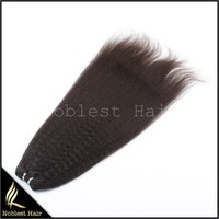 sexy kinky straight 100% unprocessed virgin indian human hair machine weft for black women