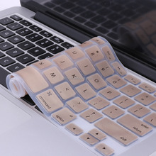"US Version Silicone Keyboard Cover for MacBook Pro 13"" 15"" Keyboard skin, Gold"