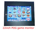 22 inch open frame monitor for pog wms games with IR saw capactive touch monitor multi touch screen overlay kit optional