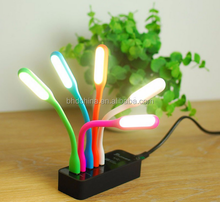 Novelty Birthday Office Gift Custom Logo Portable Flexible LED Lamp 5V 1.2W Mini USB LED Light