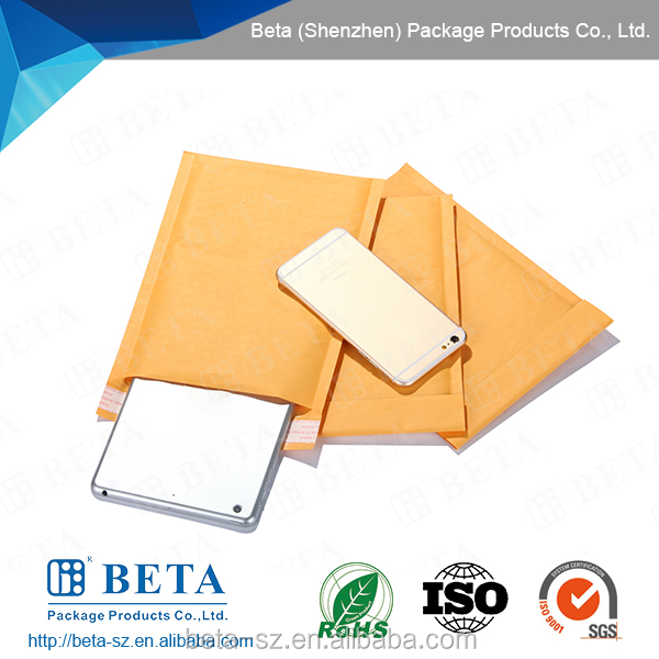 Custom Logo Padded Kraft Envelope / Gold Kraft Bubble Mailers