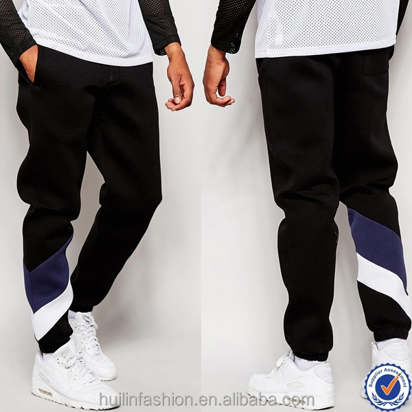 new products 2016 striped leg mens skinny joggers oem cotton jersey pants for men cheap fashion casual sweatpants