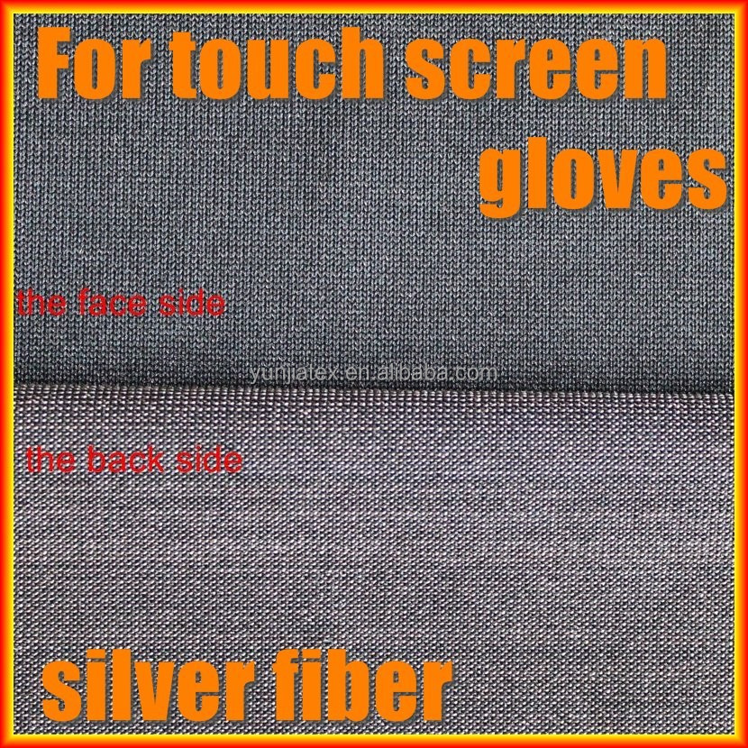 Touch screen gloves fabrics