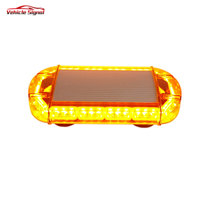 12V Emergency E-Mark Approved Red Mini Led lightbar Strobe Warning Amber Led Mini Light bar For Fire Truck