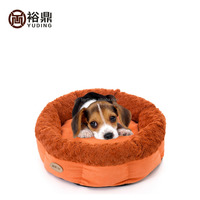 2016 cheap round dog bed / the dog kennel /material Suede +rose fleece