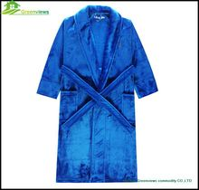 Microfiber bathrobe Microfiber Coral Polar Fleece adult Couple wholesale bathrobe