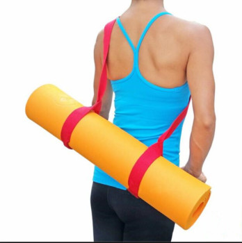 New design adjustable yoga mat carry cotton strap