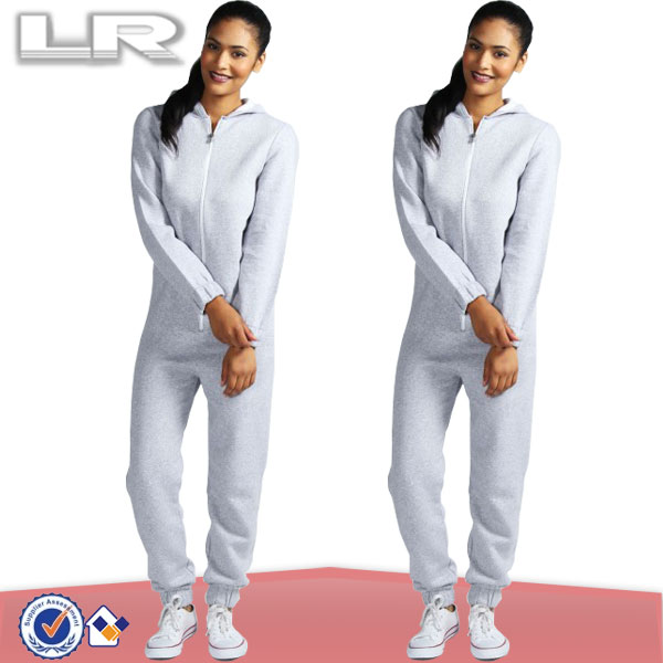Sexy White Jumpsuit Hooded Adult Couple Onesie