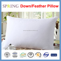Down and Feather Pillow filled with 100%white duck feather cotton fabric