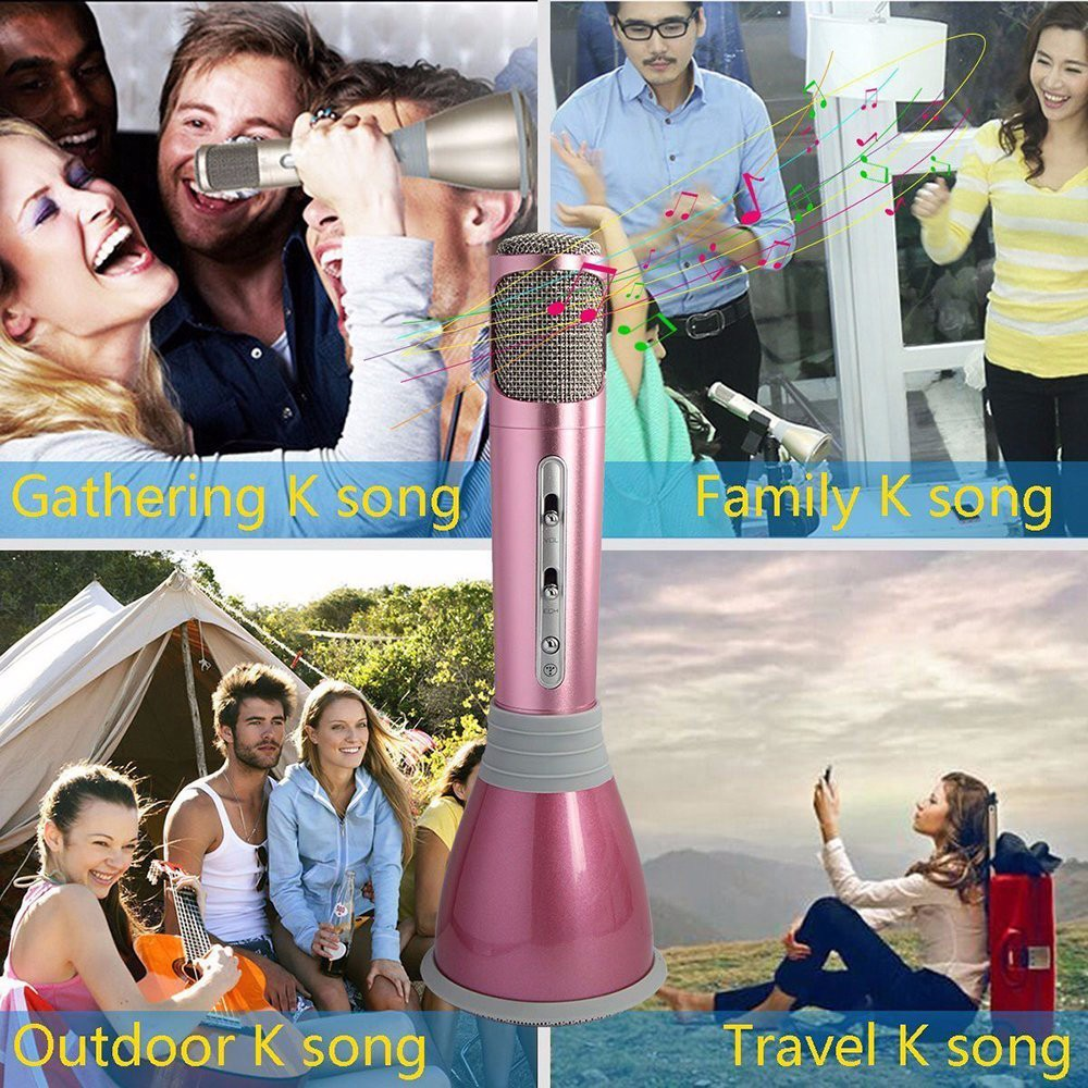 wholesale alibaba factory price wireless karaoke microphone bluetooth for everywhere to use