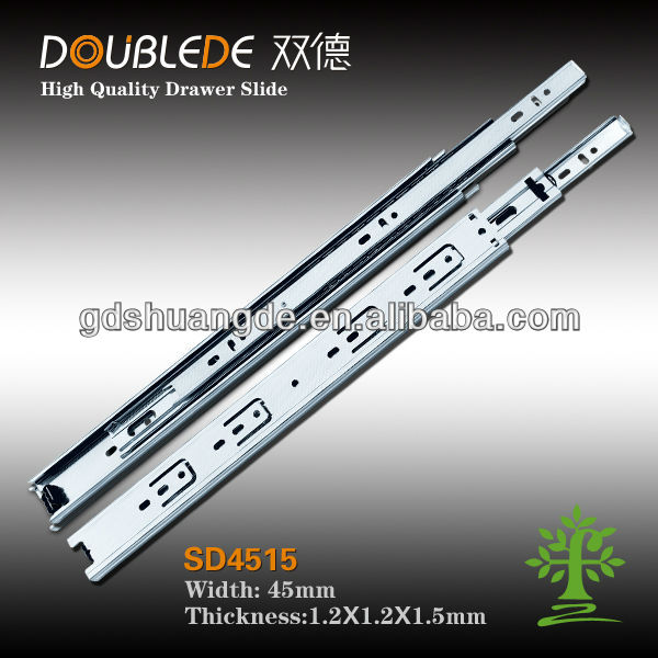 New product 3-fold drawer slide/heavy duty drawer slides/electronic parts drawers