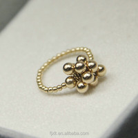 14K pure gold ladies finger new design ring