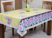Lace Edge PVC/PE Printed Tablecloths