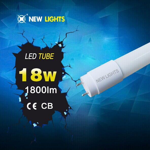 2014 new led red tube com 8tube8 Japanese t8 18w glass beam angel 320 1800lm Instant 100% light with two-year warranty CE ROHS S