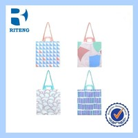 colorful personalize small clear plastic tote bags