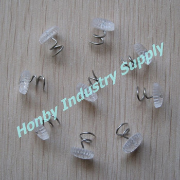 Decorative UPHOLSTERY Clear Bedskirt Corkscrew Pin