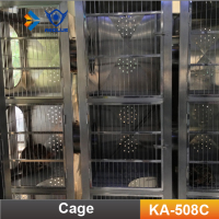 KA-508C Luxury Stainless Steel Cat Cage Modular Vet Pet Cages for Pet Shop