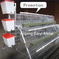 Durable A frame automatic drinking chicken breeding cage