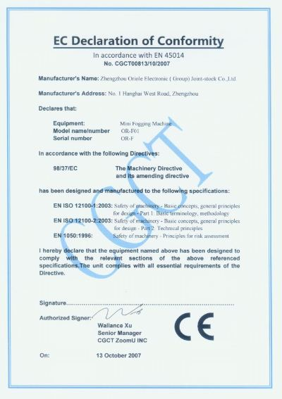 CE Certificates, ISO,CCC