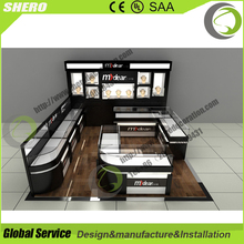 SO customized gold/jewelry display store silver jewelry kiosk design