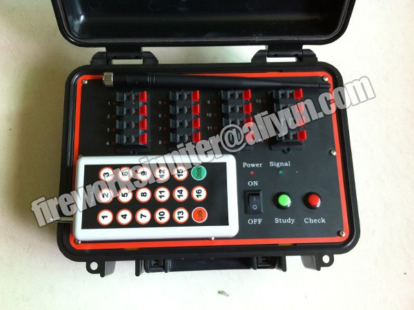 super long distance remote control system, wireless control fireworks fiirng system, 1000meter distance, 16cue, recharge battery