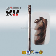 HRC55 Helix Angle 45 degree Tungsten Carbide corner radius/bull nose End Milling Cutter in milling cutter