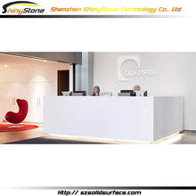 Forever classic designer white artificial marble/stone solid surface desk reception