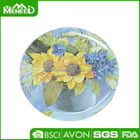 Full set plates&trays/House design Countryside style Flower hot melamine cheap dinner plate