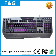 2017 new macro programmable gaming keyboard RGB color led light computer keyboard with multimedia keys for computer gaming