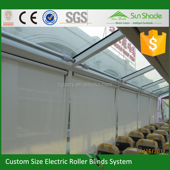 Custom made Auto blackout roller blinds white blackout blinds Motor
