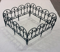 cheap popular plastic garden egding fence,plastic fence panel for garden decorative