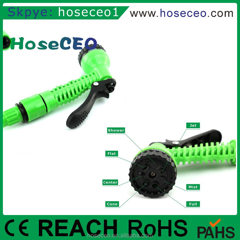 Widely Used Wholesales Price High Pressure Flexible Epxandble Garden Hose Spray Nozzle