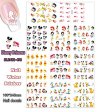 Wholesaler (11 DESIGNS IN 1) Large Piece Mickey Cartoon Princess Mouse Bear Duck Nail Art Water Sticker Nail Tattoo BLE488-498