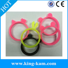 glow Luminous Universal Silicone Ring frame Case phone case Circle silicone bumper case