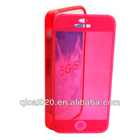 TPU leather case (touchable) for Apple Iphone 5G/5S
