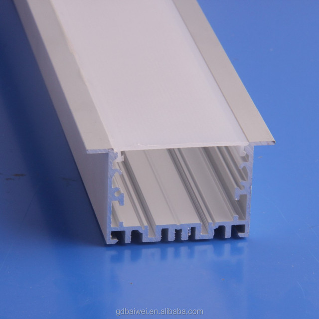good silver / black anodized or white painting aluminum profile for led recessed linear light housing