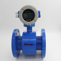 Flange type no moving parts electromagnetic flow meter with display