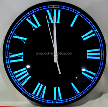 Customize Black Round LED Plastic Acrylic cheap plastic wall clocks decorative wall clock wall mounted clock for decoration