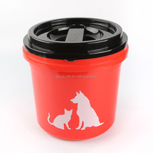 Hot selling 5kg 14L BPA -free durable airtight pet food storage container dog food dispenser