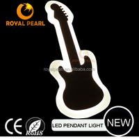 2016 fancy design guitar music LED wall lamp wall mounted bedroom reading light