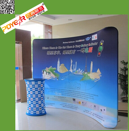 3*3 backdrop fashionable Aluminium tube and tension cloth <strong>display</strong>