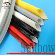 UL E333178 200C High Temperature Resistant H Class Insulation 1MM 4KV Silicone Rubber Coated Fiberglass Sleeve