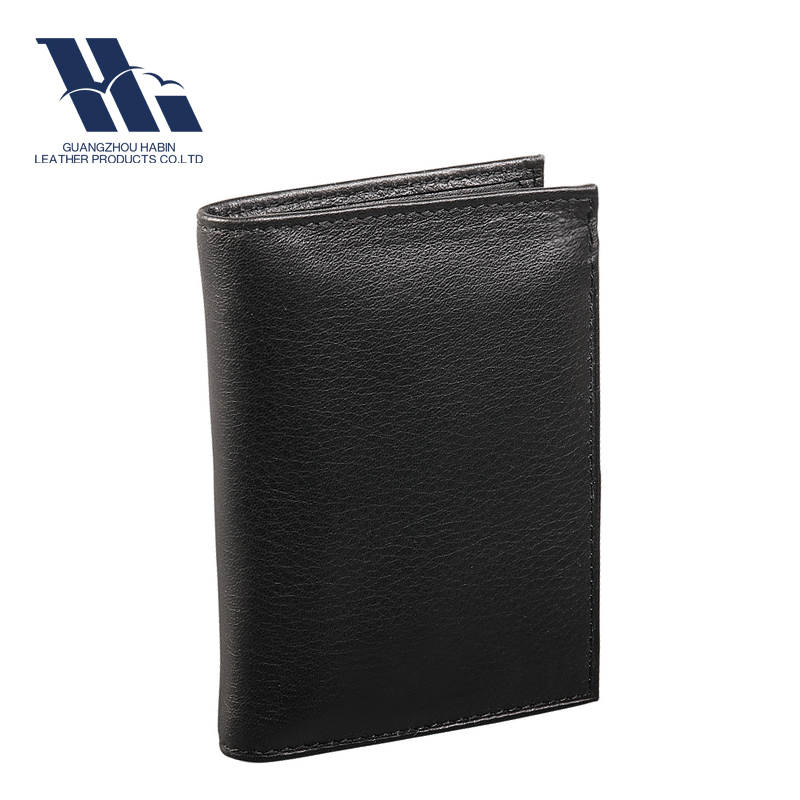 2016 New black RFID blocking leather men's rfid wallet made in China